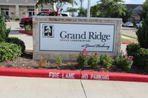 A photo of the entrance to the Garden Ridge Condominium complex where Anne Russey Counseling is located in Katy, Texas at 440 Cobia Drive 77494.